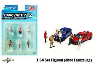 Car meet Figur SET 6 Figuren für Hot wheels 1:64 American Diorama Mijo II
