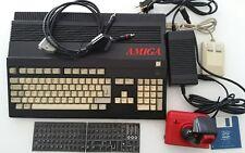 Commodore Amiga A500 Black 50Mhz CPU FPU IDE CF Card Joystick Mouse PSU RGB