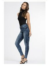 YMI Denim Skinny Luxe Lift Jade Size 11/30 Juniors Womens Blue Jeans High Rise