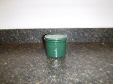 Longaberger Woven Tradition Pottery Heritage Green One Pint Salt Crock w/Lid-Usa
