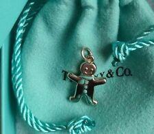 Tiffany & Co sterling charm gingerbread man enamel