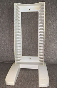 Vintage Plastic CD DVD Tower Storage Rack Wall Or Desktop Stand Holds 20 Sturdy