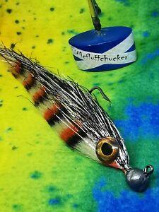 PIKE /PREDATOR- 10grm parr jig 6/0 hook mcfluffchucker fly jigs