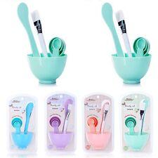 6in1 Homemade Makeup Beauty DIY Facial Face Mask Bowl Brush Spoon Stick Tool Set