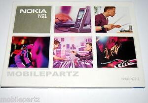 Original Nokia N91 Handy gedrucktes Benutzerhandbuch Manual Englisch Version NEU