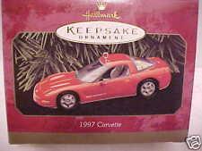 1997 HALLMARK ORNAMENT TORCH RED 1997 CORVETTE