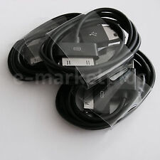 3x (three) Black USB 2.0 Data Sync Power Charge Cable For Apple iPhone 4S 4 3