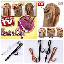 As Seen On TV Magic TWIST N CLIP For Your Hair 4 Hairpin Clips + 1 Tassel Tail