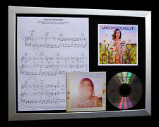 KATY PERRY Unconditionally LTD Nod QUALITY CD FRAMED DISPLAY+EXPRESS GLOBAL SHIP