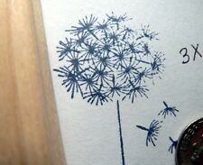 """P5 Dandelion rubber stamp 3.5x1.3"""" WM"""