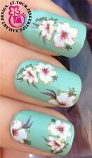 NAIL ART WATER TRANSFERS STICKERS DECALS DECO SET CREAMY LILLY FLOWERS #244