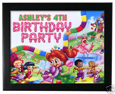 1 Candy Land Birthday Party Favor Personalized 8x10 inch Wall Print
