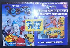NEW DVD 2-Pack ~ ROBOTS + WALMART EXCLUSIVE BONUS CD:COMPLETE SOUNDTRACK ~ R1,WS