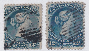 Canada 1868 Large Queen Stamp #28  Used  Two Shades. See*