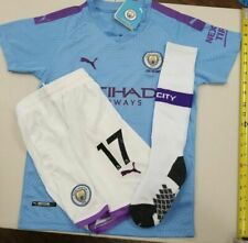 Manchester City De Bruyne Jersey with Shorts and Socks Size 26