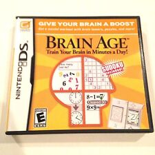 New Brain Age: Train Your Brain in Minutes a Day  (Nintendo DS, 2006) Opened DSI