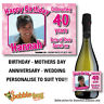 PERSONALISED WINE CHAMPAGNE PROSECCO PHOTO BIRTHDAY GIFT IDEA BOTTLE LABEL -75