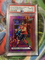 PATRICK MAHOMES II 2019 PANINI THE NATIONAL VIP GOLD PARTY PINK PSA 10 GEM MINT