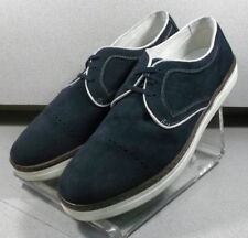 271449 PF38 Men's Shoes Size 10 M Navy Suede 1850 Series Johnston & Murphy