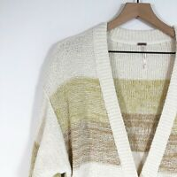 Free People Southport Beach Cardigan Sweater M Long Drop Shoulder Womens New