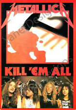 Metallica Postcard Kill Em All James Hetfield Cliff Burton Original Issue 4x6