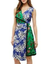 Phase Eight - Patchwork Scarf Dress (Blue Multi)-Size 16 (Brand New With Tag)