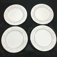 """Lot of 4 NORITAKE 2226 Fleurette 6-1/4"""" Bread Plates"""