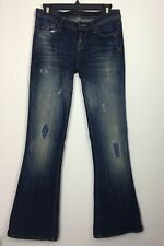 Genetic Denim Womens The Cypress Mid-Rise Flare Jeans Dark Wash Sz 26 NWT