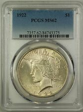 1922 Silver Peace Dollar $1 PCGS MS-62 (Better Coin) (16a)