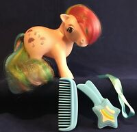 Vintage 1983 My Little Pony G1 Rainbow Ponies Parasol Complete Comb Brush Ribbon