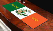 Fighting Irish Flag Bar Towel Runner Pub Mat Beer Cocktail Party Gift Ireland