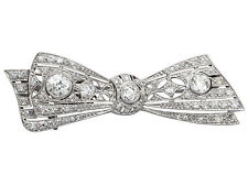 Diamond White Gold Brooch/Pin Victorian Fine Jewellery
