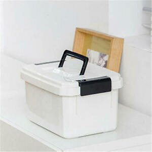 Portable Medical Medicine Organiser Storage Box With Partitioned Tray Set sde