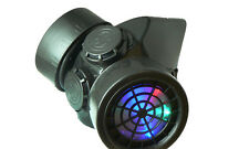 TrYptiX Cyber Goth Gas Mask LED Respirator Rainbow Lights EDC Burning Man