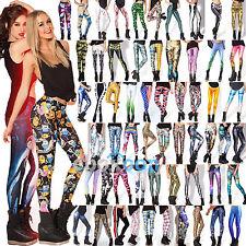 3D Graphic Printed Women Leggings Skinny Slim Fit Pants Yoga Gym Funky Trousers