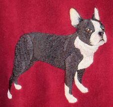 Embroidered Short-Sleeved T-shirt - Boston Terrier C3912 Sizes S - Xxl