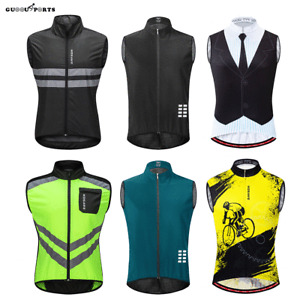 Men Cycling Vest Sleeveless Riding Jersey Top MTB Mountain Bike Gilet Breathable