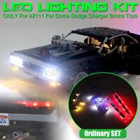 USB LED Light Lighting Kit For LEGO 42111 For Doms Dodge Charger Car Brick