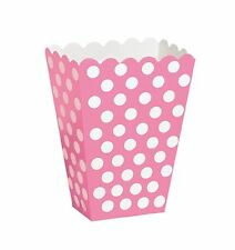 PINK POLKA DOTS - 8 Treat Boxes - (6.5cm x 4cm x 13.5cm) Spots Birthday Party