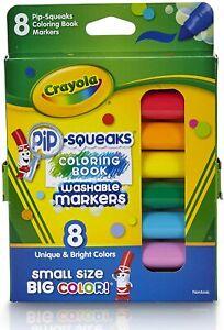 Crayola Pip-Squeaks Coloring Book Washable Markers Multi Unique Color Safety Cap