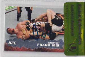 Frank Mir Signed 2009 Topps UFC Rookie Card #71 BAS Beckett COA RC 81 Autograph