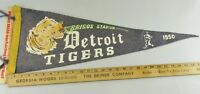 VTG Felt Pennant Historical Rare Detroit Tigers 1950 Michigan Briggs Stadium