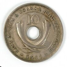1911 East Africa & Uganda Protectorates George V 10 Cent Coin Circulated