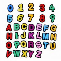 36pcs Numbers 0-9 English Letters A-Z Shoe Charms Decorations PVC Kids Gifts