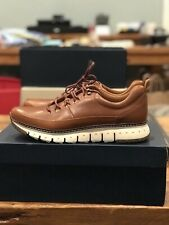 Men's Cole Haan Zerogrand Rugged OX Leather Sneakers - Size 10 British Tan/Ivory