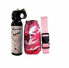 UDAP Pepper Power Bear Spray Repellent ~ Pink Holster ~ New ~ Free Shipping
