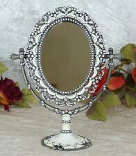 Standspiegel Spiegel mit Tablett Antikstil oval Kosmetikspiegel Bad Flur Vintage