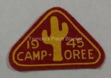 1945 Arizona Camporee Felt Patch Mint Condition FREE SHIPPING