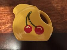 Fiesta® DAFFODIL Mini Disk Disc Pitcher / Creamer HLCCA Cherries