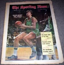 BOSTON CELTICS 1972 DAVE COWENS COVER FEATURE NO LABEL SPORTING NEWS